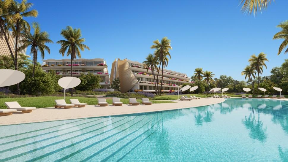 Новые апартаменты 109 кв.метров рядом с пляжем в Альбире