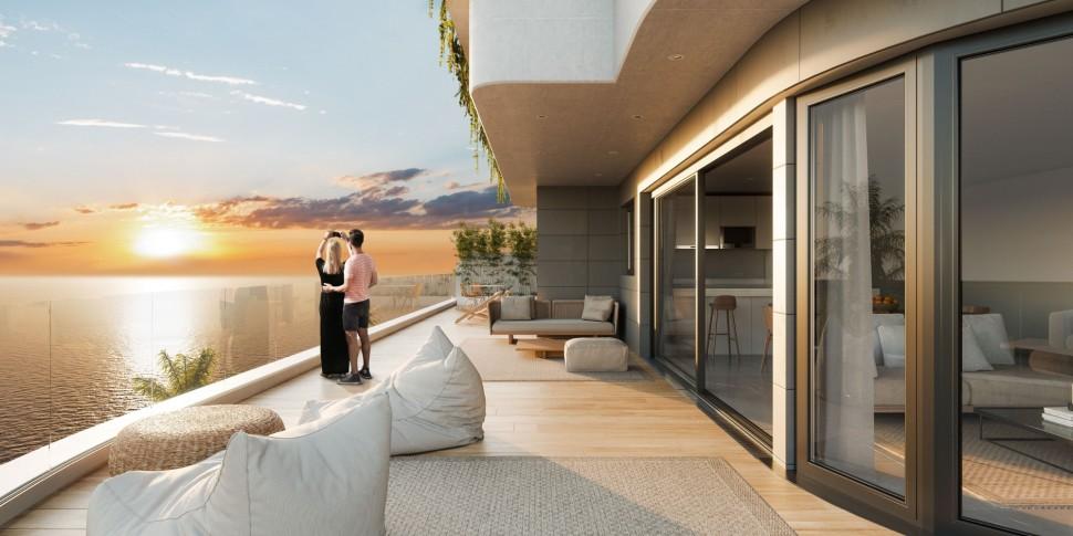 Новые квартиры с огромными террасами в Агилас