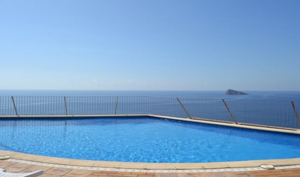 Дуплекс с большой террасой с видом на море, Бенидорм