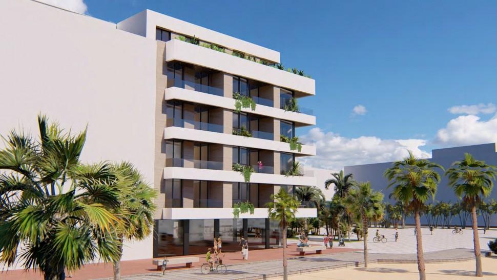 Современная квартира на первой линии моря, Ла Мата