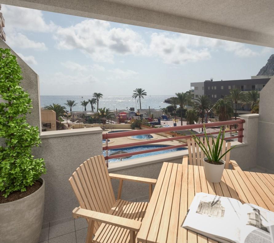 Квартира на первой линии пляжа Леванте в Кальпе
