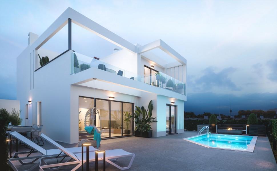 Роскошная вилла 135 кв.метров, Лос Алькасарес рядом с пляжем