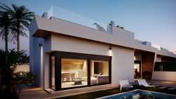 Новые виллы в Лос Алькасарес с частным бассейном и большим солярием