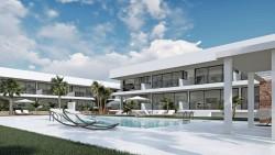 Новые апартаменты 70 кв.м. с садом и бассейном, Ла Манга