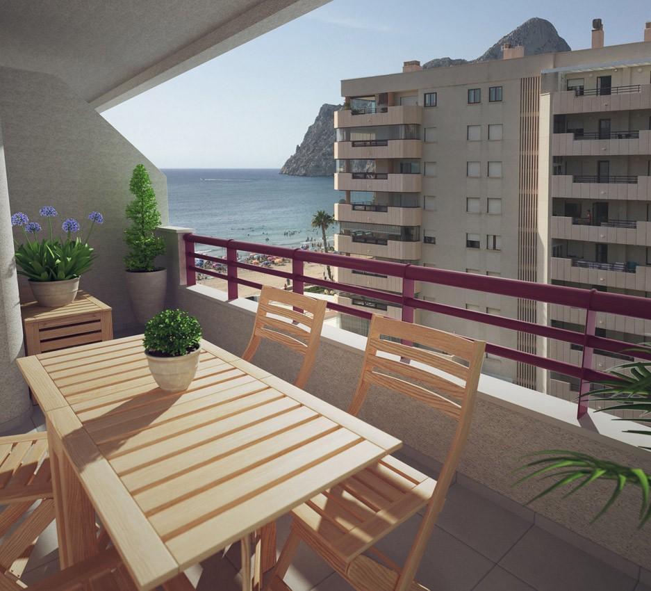 Апартаменты 57 кв.метров на берегу моря в Кальпе