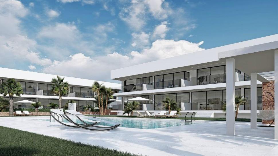 Современные квартиры с садом и бассейном, Ла Манга