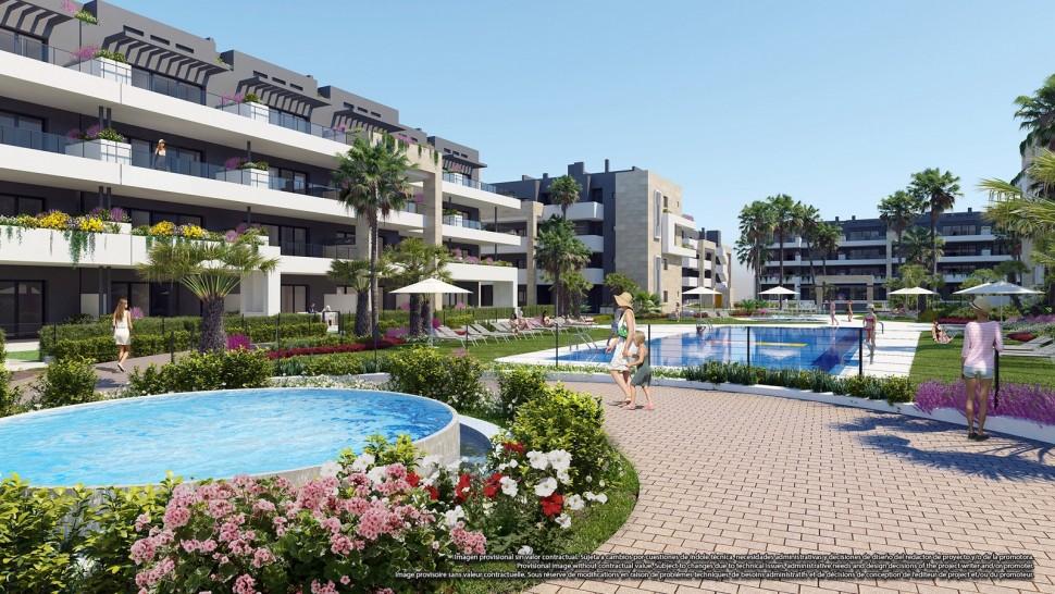 Квартиры в великолепной урбанизации в Плайя Фламенко