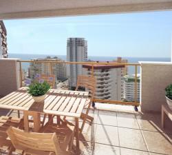 Новые апартаменты 97 кв.метров с видом на море в Кальпе