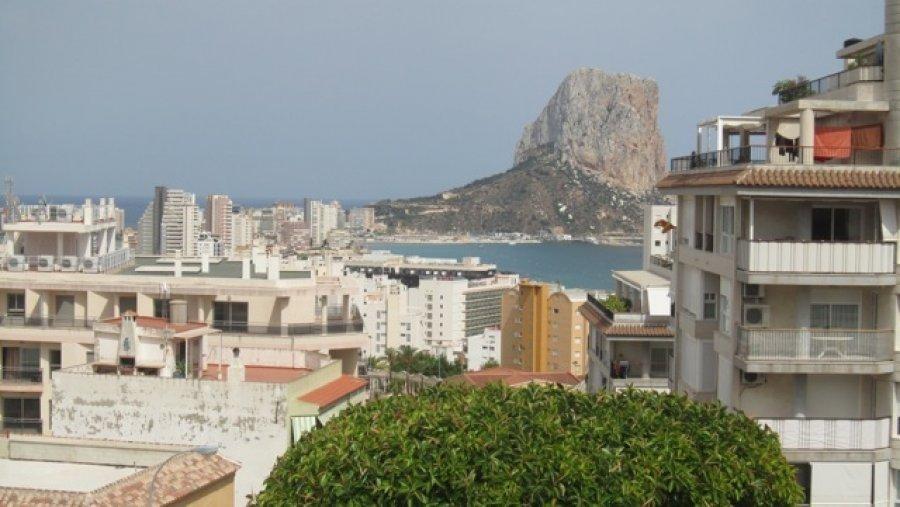Пентхаус с видом на море и город в Кальпе