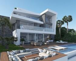 Вилла в урбанизации на берегу моря в Хавее