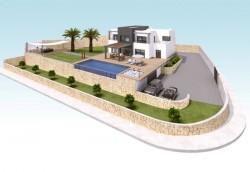 2-этажная вилла с панорамным бассейном в Бенисе