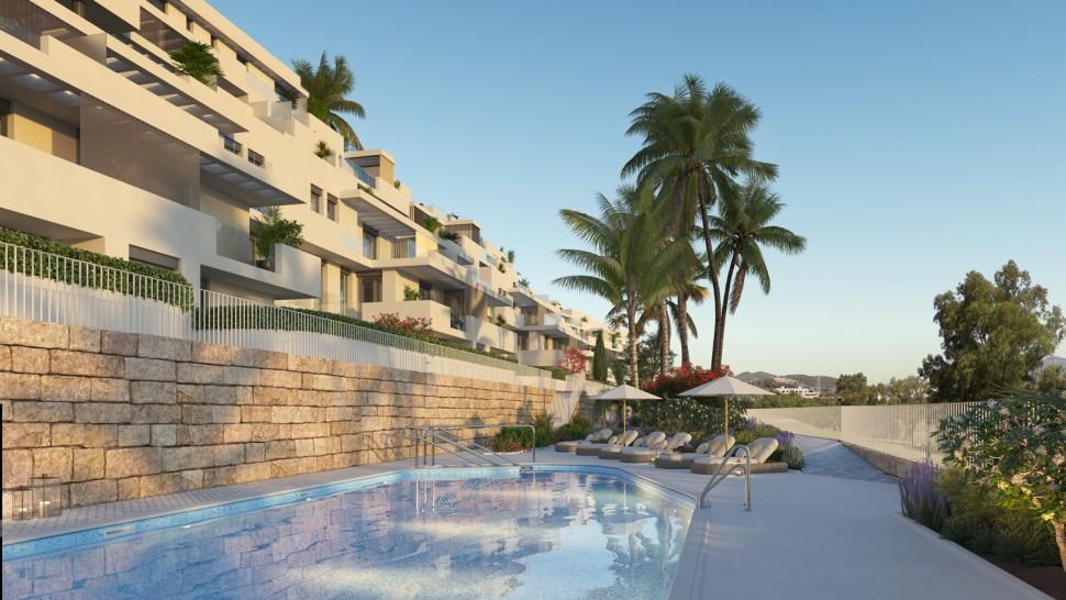Новые апартаменты 99 кв.метров на поле для гольфа Эстепона в Малаге