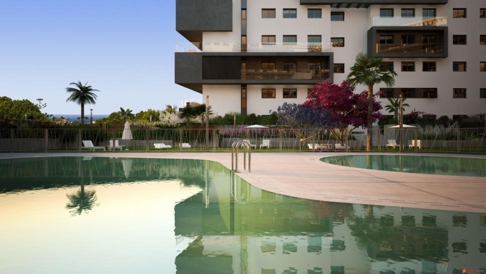Апартаменты 89 кв.м. в элитном жилом районе Кампоамора