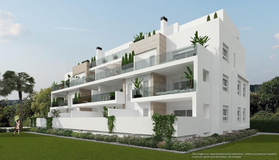Прекрасные квартиры с большими террасами в Вилламартин