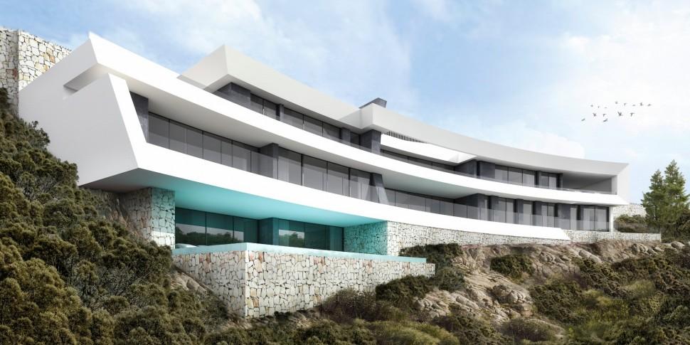 Дизайнерская вилла с фантастическим видом на море в Ла Корона, Хавеа