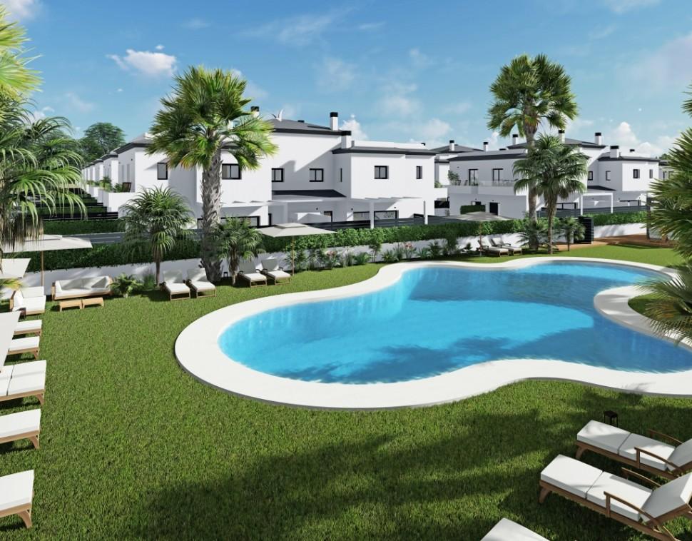 Таунхаус в новом жилом комплексе в Гран Алаканте, Санта Пола