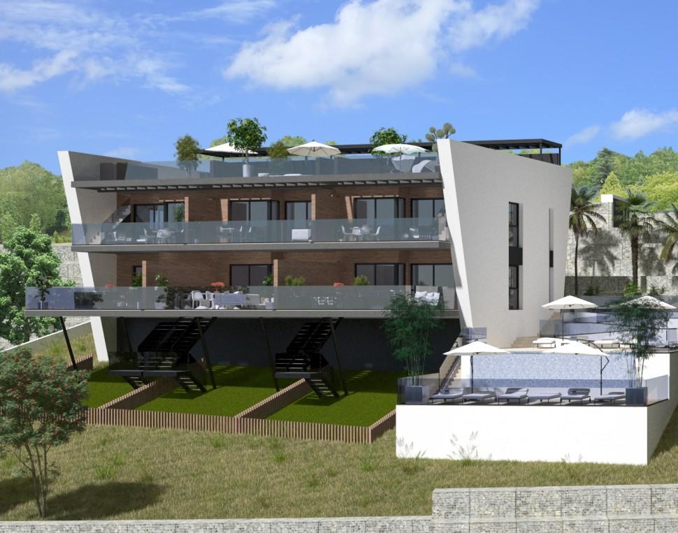 Новое роскошное бунгало в Balcón de Finestrat, Бенидорм