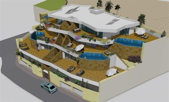 Просторные апартаменты с бассейном в Бенидорме