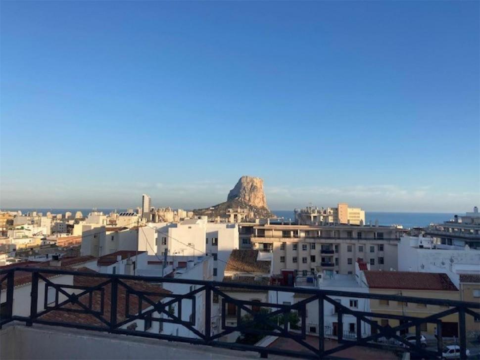 Новые апартаменты с видом на море и скалу Ифач в Кальпе