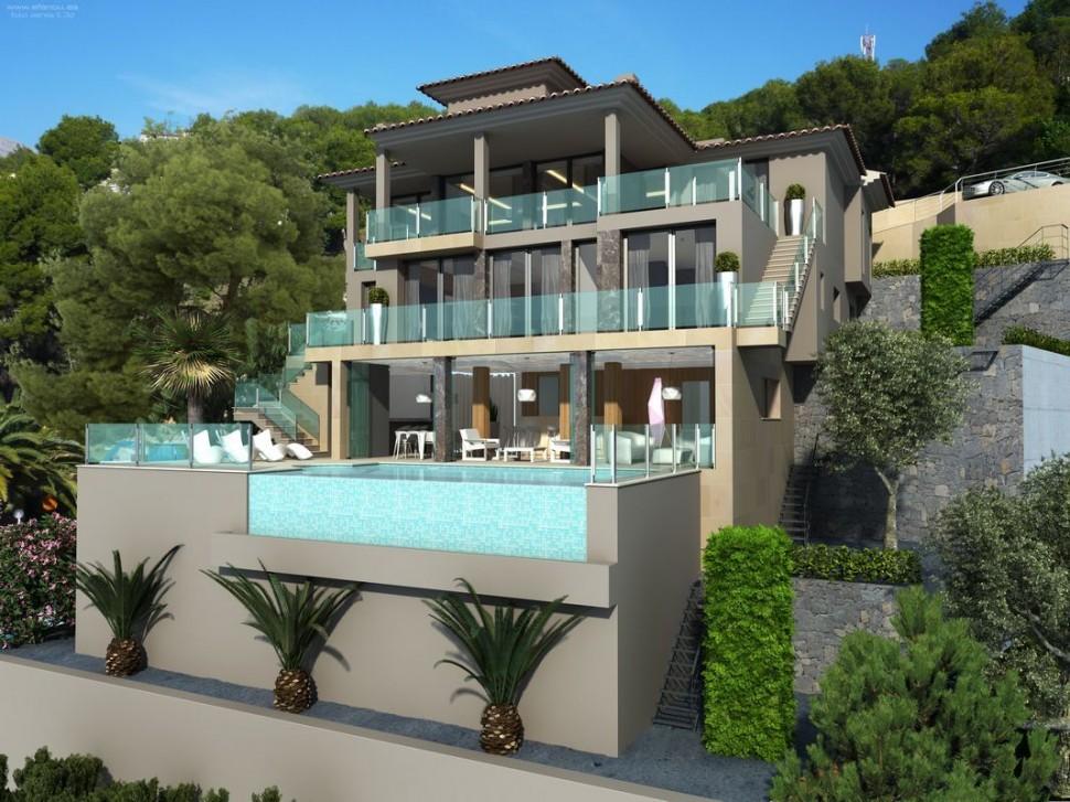 Изысканная 3-этажная вилла в Альтеа с видом на море