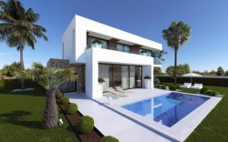 Шикарный дом новой постройки в Бенидорме