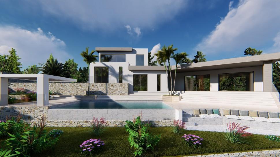 Эффектная роскошная вилла 414 кв.м. с видом на море в Хавеа